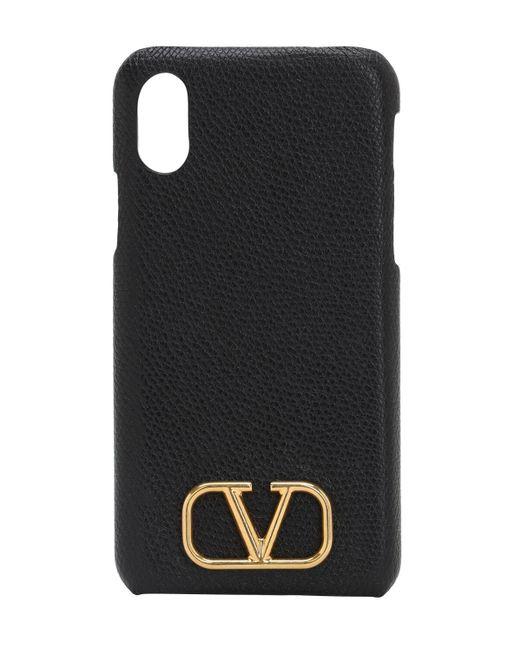 Кожаный Чехол Для Телефона Valentino Garavani, цвет: Black