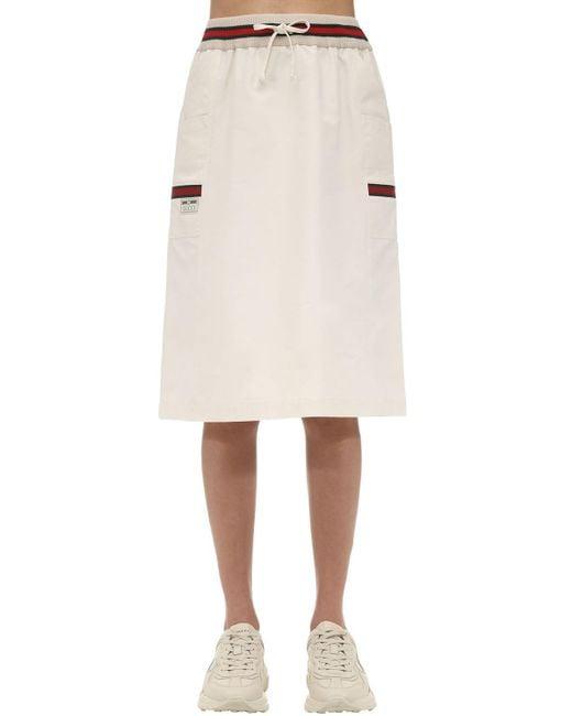 Gucci コットンキャンバススカート White