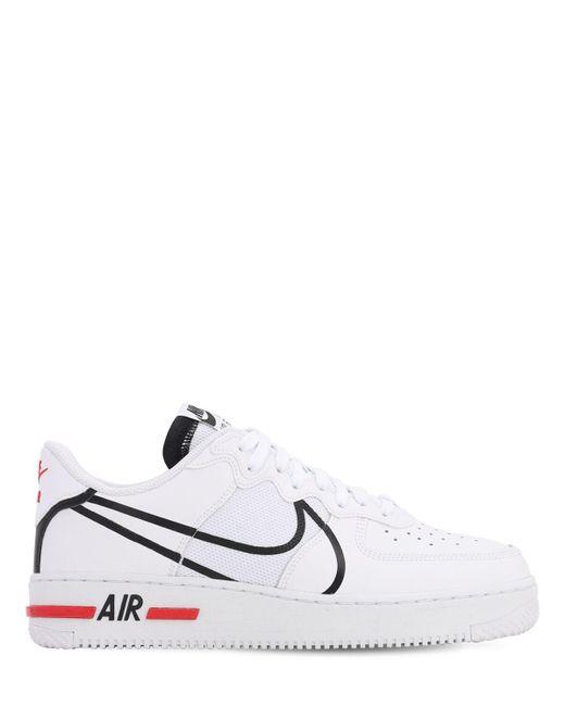 メンズ Nike Air Force 1 React スニーカー White