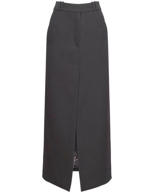 Юбка-карандаш Из Шерсти Paco Rabanne, цвет: Black