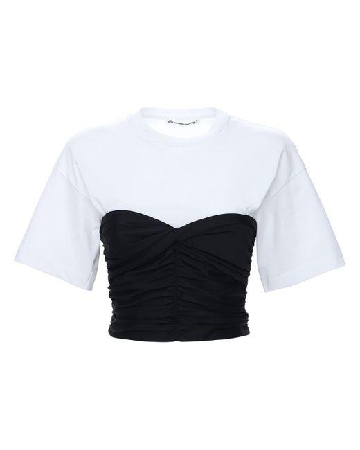 Alexander Wang コルセットコットンtシャツ Black