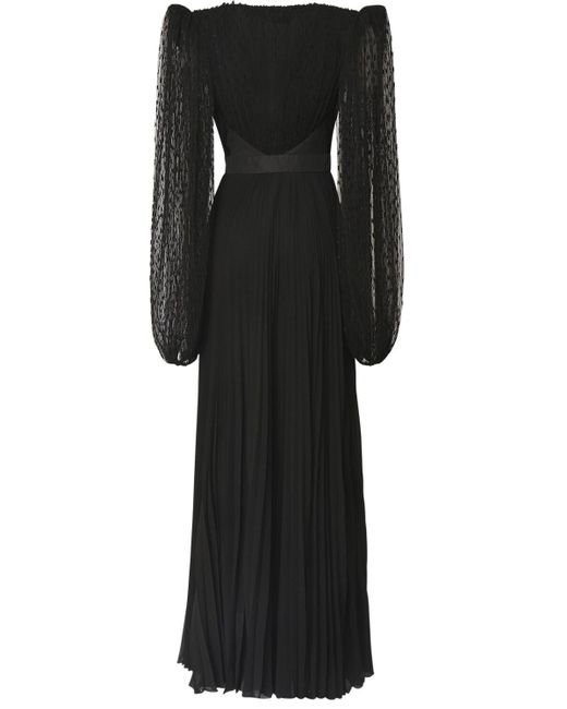 Платье Из Шёлкового Жоржета И Тюля Givenchy, цвет: Black