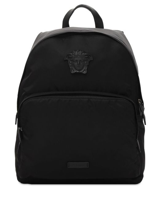 Рюкзак Из Нейлона Medusa Versace для него, цвет: Black