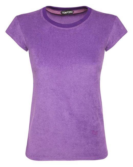 Tom Ford コットンジャージーtシャツ Purple