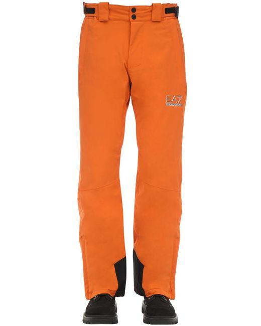 メンズ EA7 パディングテクニカルスキーパンツ Orange