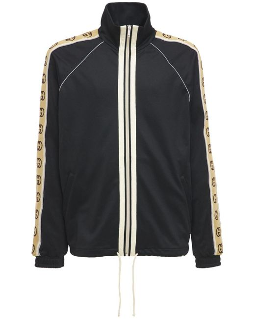 Куртка Из Джерси На Молнии Gucci для него, цвет: Black
