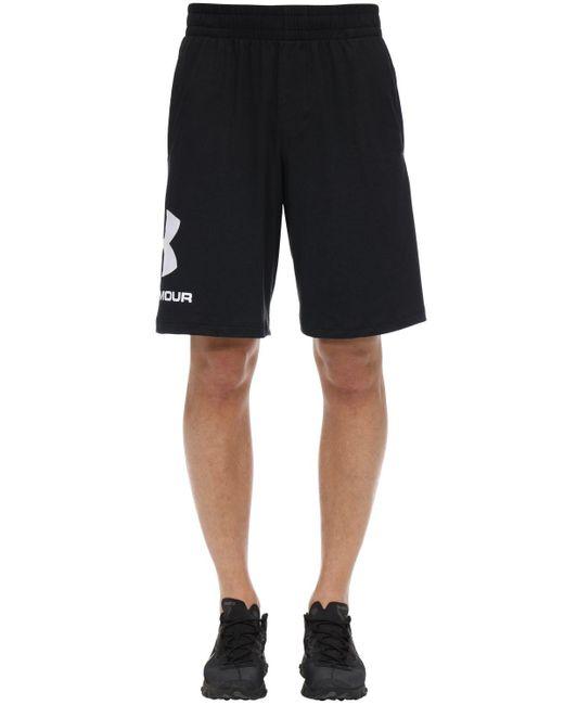 メンズ Under Armour Sportstyle コットンスウェットハーフパンツ Black