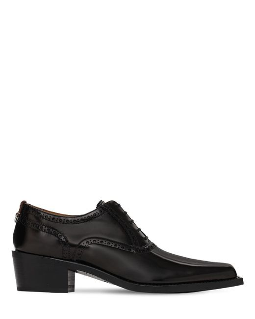 Кожаные Туфли Burberry для него, цвет: Black