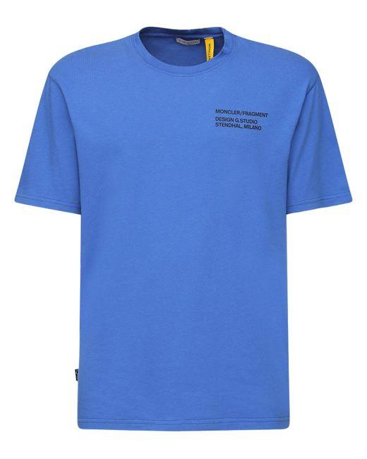 Футболка Из Джерси С Логотипом Moncler Genius для него, цвет: Blue