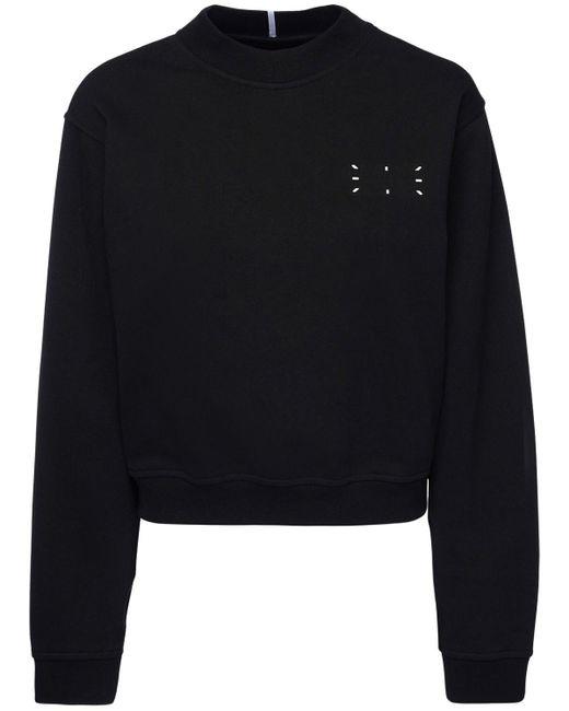 McQ Alexander McQueen コットンクロップスウェットシャツ Black