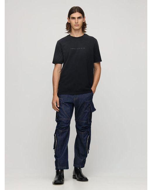 メンズ DIESEL Bleach コットンジャージーtシャツ Black