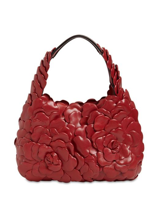Сумка Из Кожи Valentino Garavani, цвет: Red