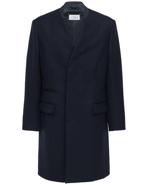 メンズ Maison Margiela ウールコート Blue