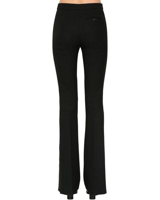 Брюки Из Шерсти И Шелка Alexander McQueen, цвет: Black