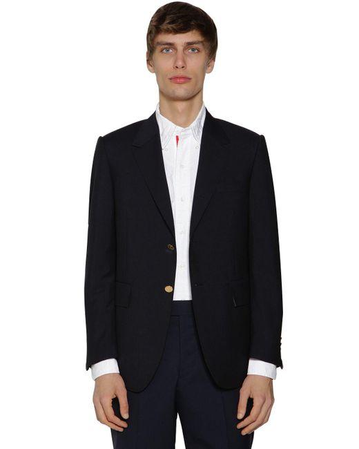 メンズ Thom Browne モヘア&ウールジャケット Black