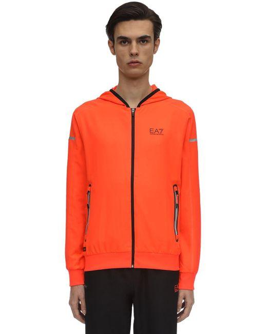 EA7 Orange Ventus Tech Training Track Suit for men