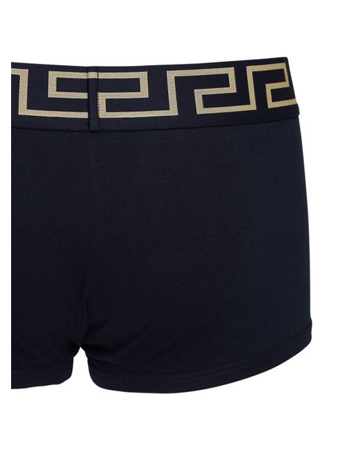 メンズ Versace ストレッチコットンボクサーブリーフ Blue