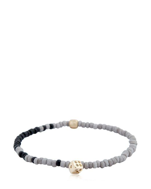 Luis Morais - Multicolor Dice Charm & Striped Beaded Bracelet - Lyst