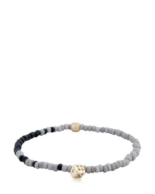 Luis Morais - Multicolor Dice Charm & Striped Beaded Bracelet - Lyst