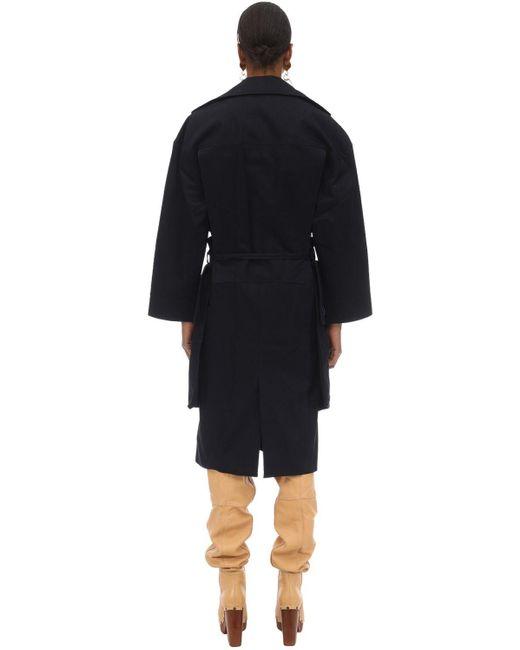 Cappotto In Tela Di Cotone di Jacquemus in Blue