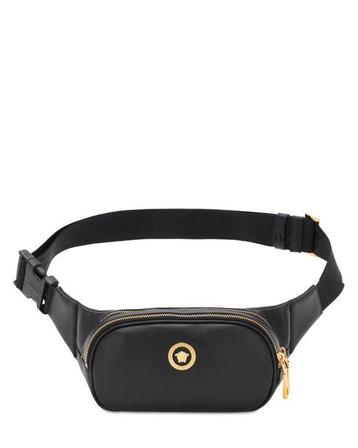 メンズ Versace ブラック And ゴールド Medusa ベルト バッグ Black