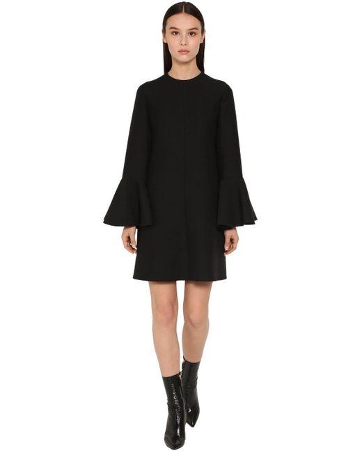 Valentino Couture クレープミニドレス Black