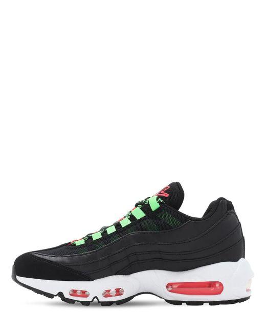 Chaussure Air Max 95 SE pour Cuir Nike en coloris Noir - Lyst