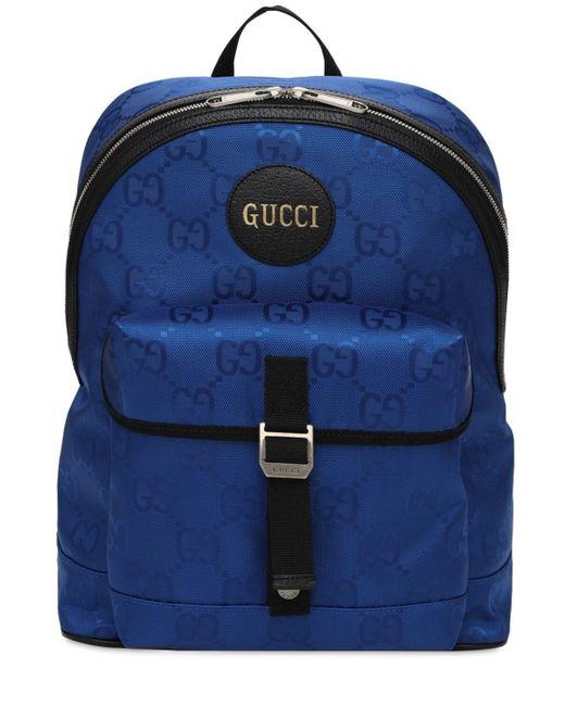 メンズ Gucci Off The Grid エコナイロンバックパック Blue