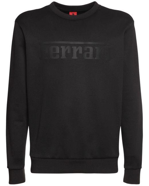メンズ Ferrari コットンブレンドスウェットシャツ Black