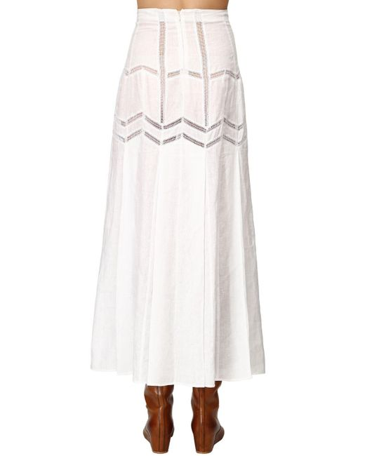 Gabriela Hearst Lvr Sustainable リネンスカート White