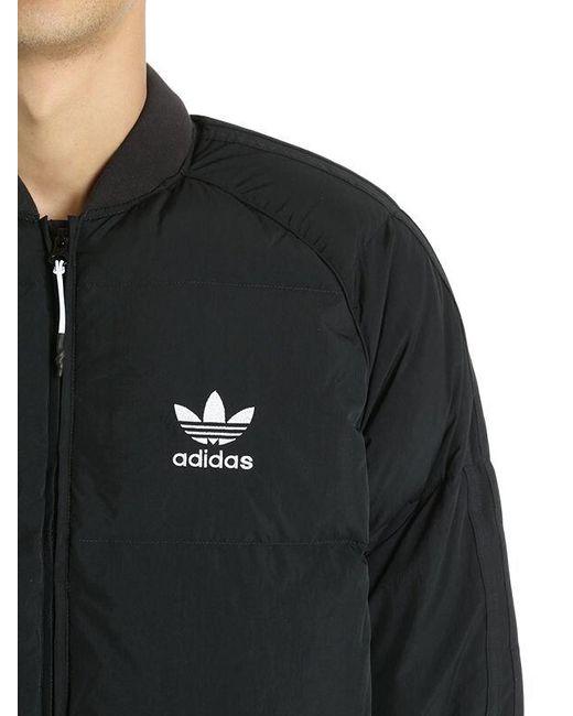 37880a3f7 adidas Originals Sst Logo Padded Bomber Jacket in Black for Men - Lyst