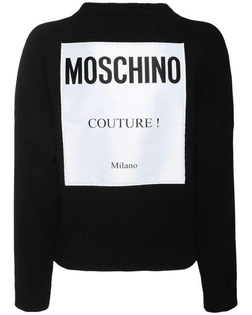 Moschino カシミア&ウールニットセーター Black