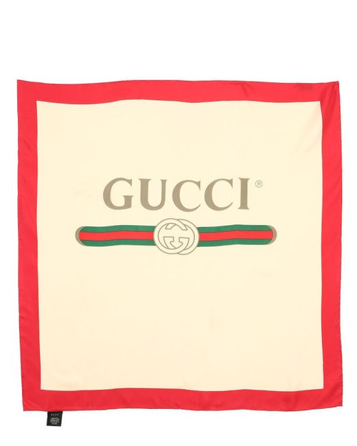 Gucci シルクツイルスカーフ Natural
