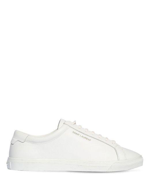 Saint Laurent Andy レザースニーカー 10mm White