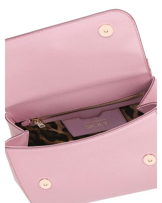 Dolce & Gabbana Sicily グレインレザーバッグ Pink
