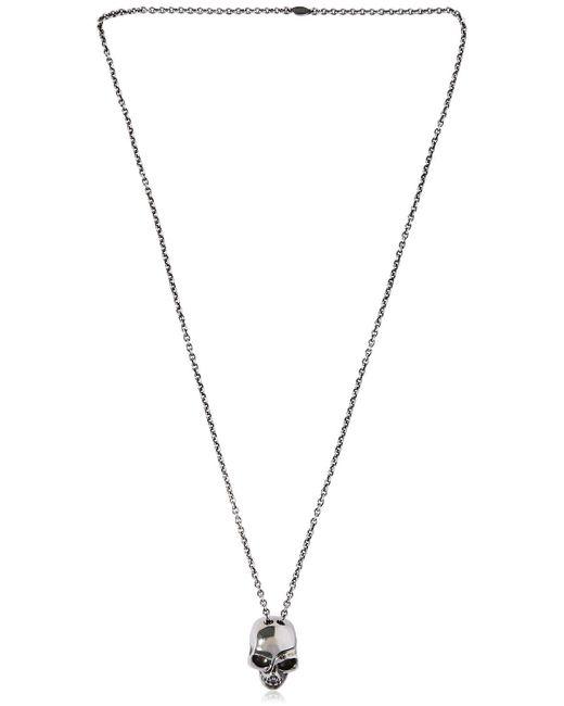 Alexander McQueen - Metallic Divided Skull Chain Necklace for Men - Lyst