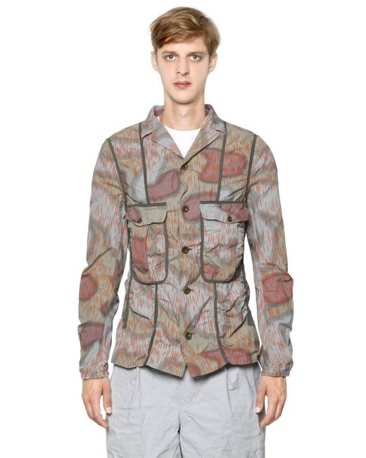 Kolor - Multicolor Printed Wrinkled Cotton Poplin Jacket for Men - Lyst