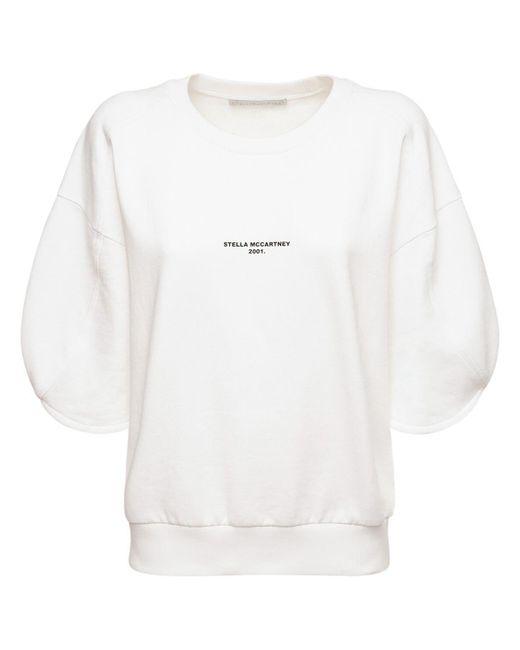 Stella McCartney White Sweathirt Aus Bio-baumwolljersey Mit Logo