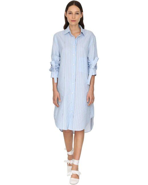 J.W. Anderson ポプリンシャツドレス Blue