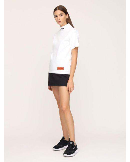 Heron Preston White T-shirt Aus Baumwolljersey