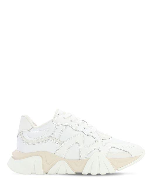 メンズ Versace ホワイト Squalo スニーカー White