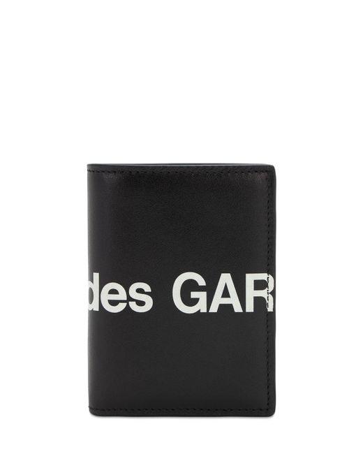 Кожаный Кошелек С Логотипом Comme des Garçons для него, цвет: Black