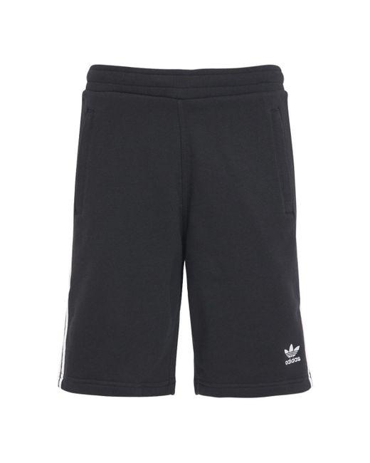 メンズ Adidas Originals 3-stripe コットンスウェットハーフパンツ Black