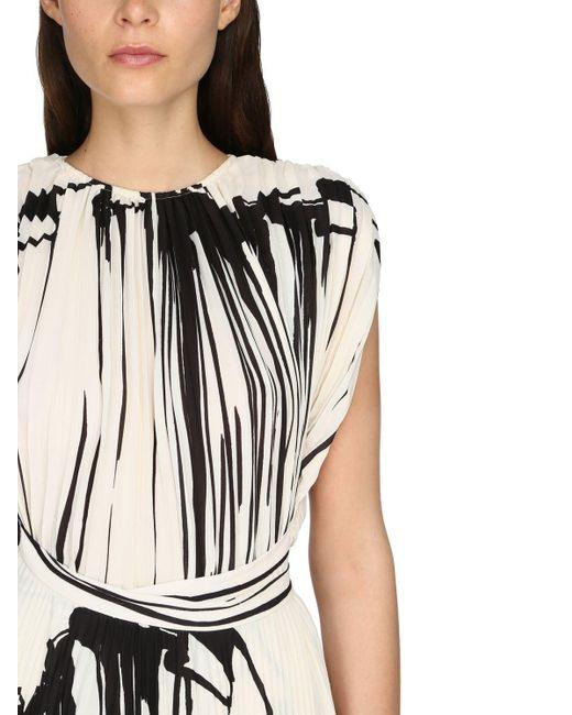 Платье Из Крепа С Принтом Proenza Schouler, цвет: Black