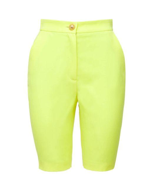 Шорты Из Шерсти Balmain, цвет: Yellow