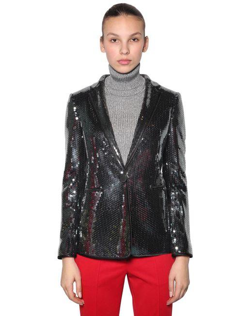 Marco De Vincenzo - Metallic Sequined Blazer Jacket - Lyst