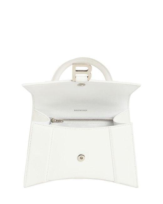 Balenciaga Hourglass スムースレザーバッグ White