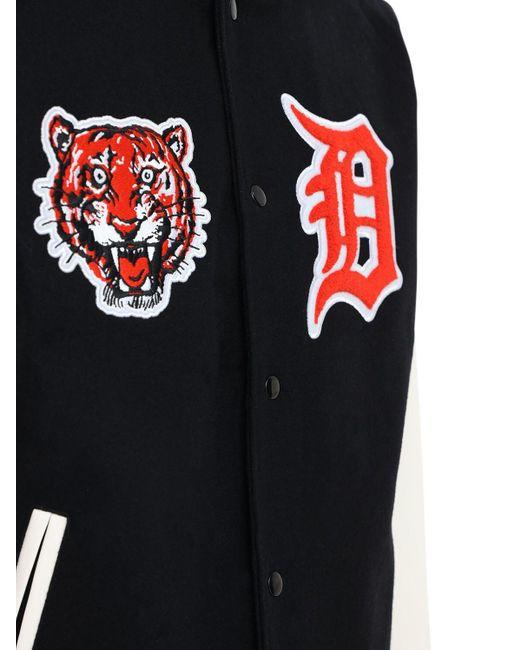メンズ KTZ Nba Detroit Tigers ボンバージャケット Black