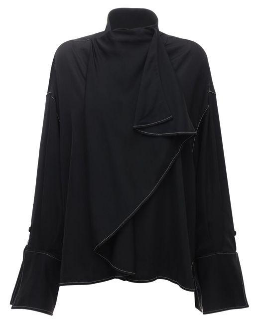 Ellery Over-the-top サテンシャツ Black