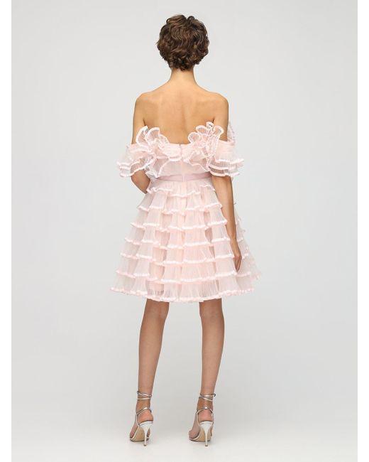 Giambattista Valli チュールミニドレス Pink